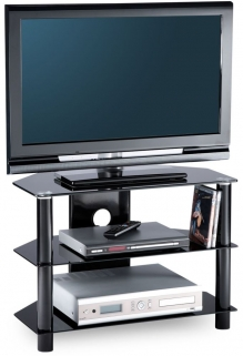 Alphason Essential Black TV Unit - ESS800-3-BLK