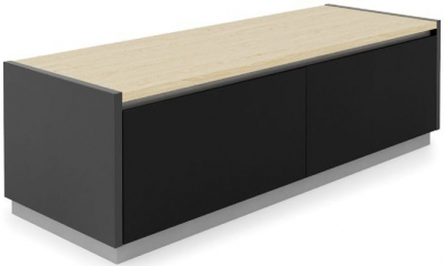 Alphason Horizon Black and Light Oak TV Stand for 70inch - ADHO1600-LO