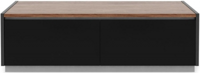 Alphason Horizon Black and Walnut TV Stand for 55inch - ADHO1200-W