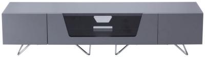 Alphason Chromium Cab Grey TV Cabinet 70inch - CRO2-1600CB-GRY