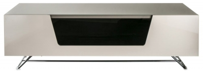 Alphason Chromium Cab Ivory TV Cabinet 55inch - CRO2-1200CB-IVO