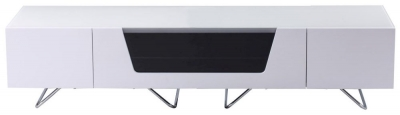 Alphason Chromium Cab White TV Cabinet 70inch - CRO2-1600CB-WHT