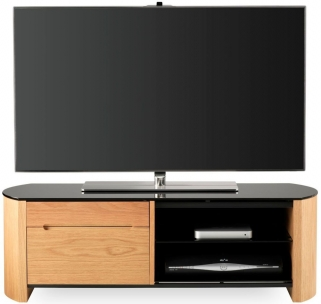 Alphason Finewood  Light Oak TV Cabinet - FW1100CB