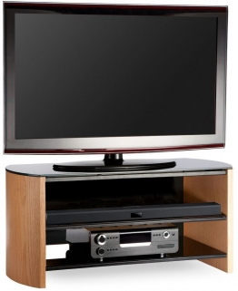 Alphason Finewood  Light Oak TV Unit - FW1100