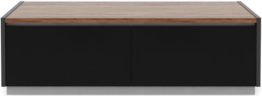 Alphason Horizon Black and Walnut TV Stand for 70inch - ADHO1600-W