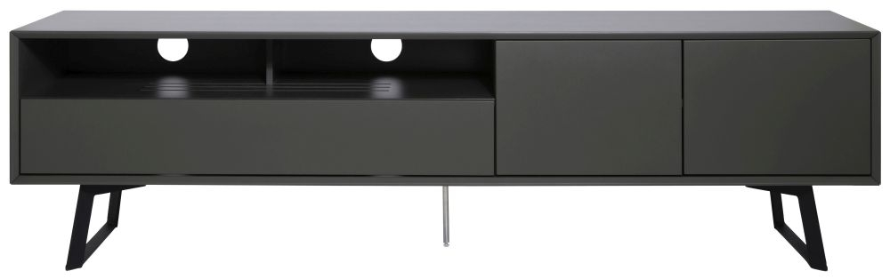 Alphason Carbon Grey TV Cabinet 90inch - ADCA2000-GRY