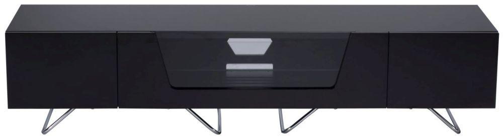 Alphason Chromium Cab Black TV Cabinet 70inch - CRO2-1600CB-BLK
