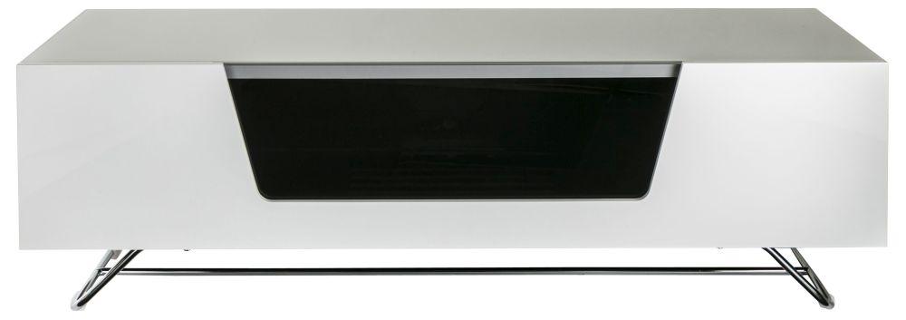 Alphason Chromium Cab White TV Cabinet 55inch - CRO2-1200CB-WHT