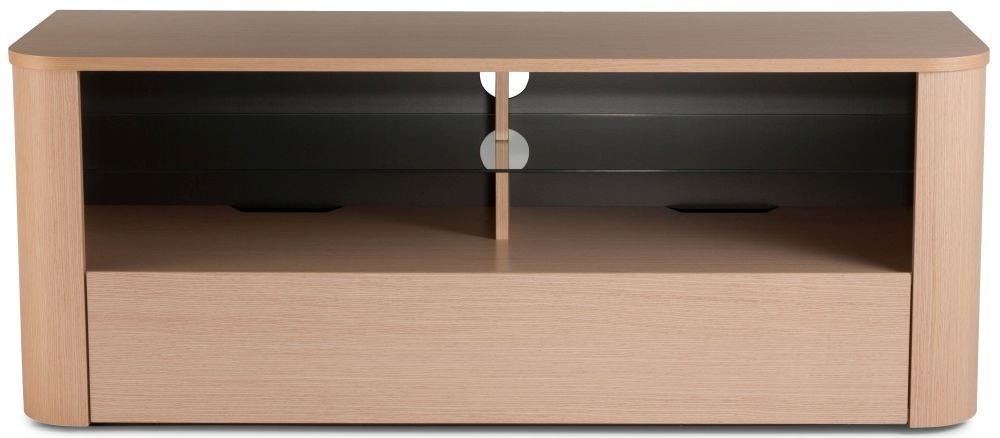 Alphason Hugo Light Oak TV Cabinet W 126cm - ADH1260-LO