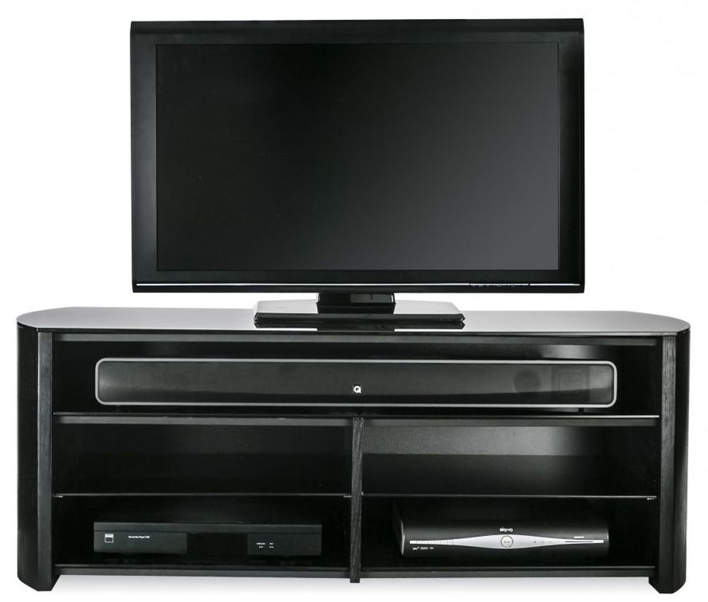Alphason Finewood Black Oak Tv Cabinet Fw1350sb Blk
