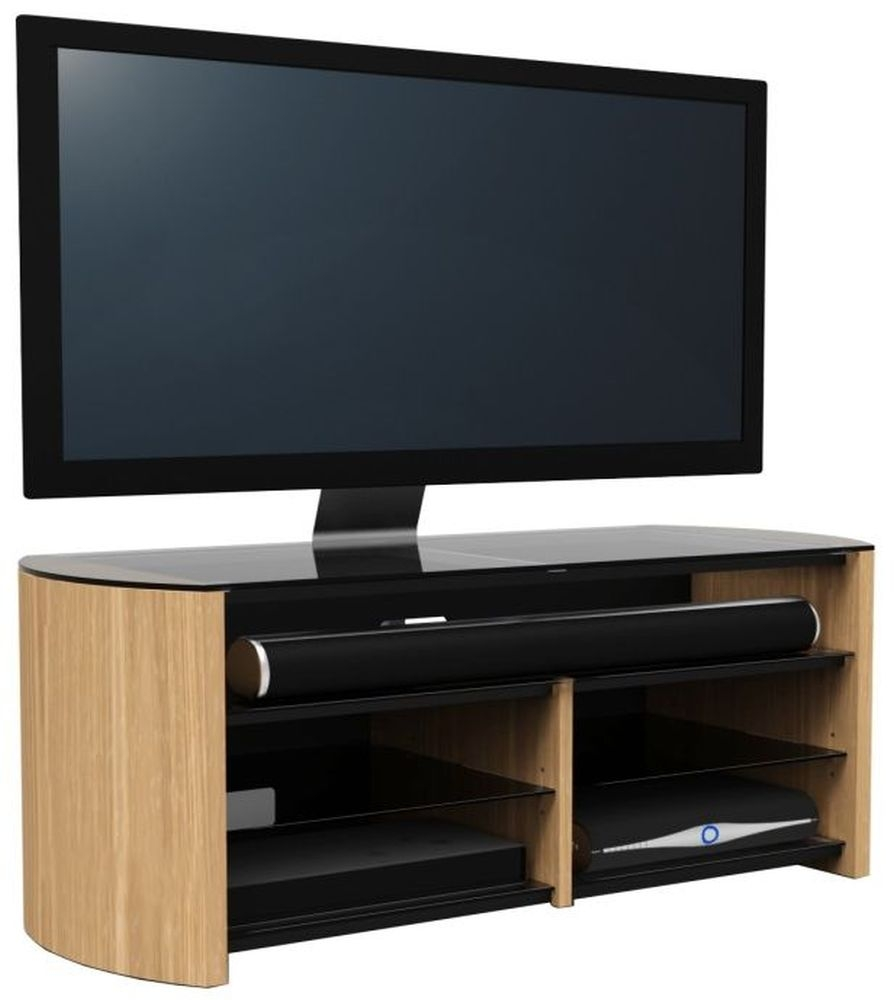 buy alphason finewood light oak tv cabinet fw1350sb lo online cfs uk. Black Bedroom Furniture Sets. Home Design Ideas