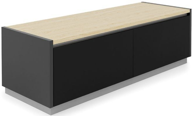 Alphason Horizon Black and Light Oak TV Stand for 55inch - ADHO1200-LO