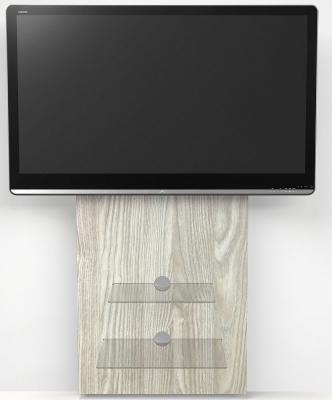 Alphason Mercury Light Oak Slimline Wall Mounted TV Stand