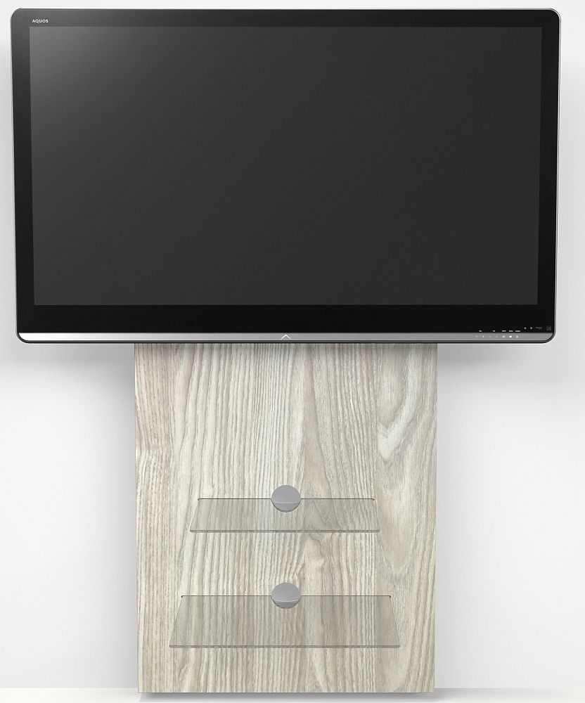 Alphason Mercury Light Oak Slimline Wall Mounted TV Stand