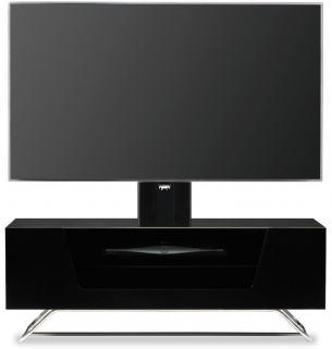 Alphason Chromium 2 Black Cantilever TV Cabinet for 50inch - CRO2-1000BKT-BK