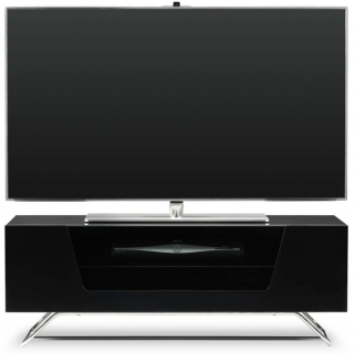 Alphason Chromium 2 Black TV Cabinet - CRO2-1000CB-BLK