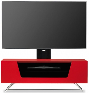 Alphason Chromium 2 Red Cantilever TV Cabinet - CRO2-1000BKT-RE