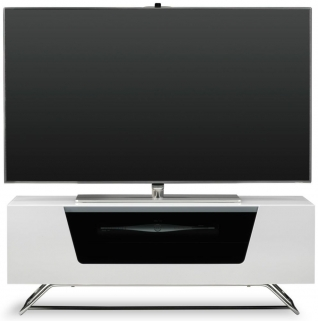 Alphason Chromium 2 White TV Cabinet for 45inch - CRO2-1000CB-WHT