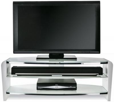 Alphason Francium Arctic White TV Unit - FRN1100-ARCTIC