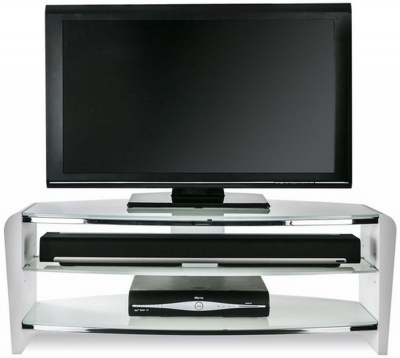 Alphason Francium Arctic White TV Unit for 50inch - FRN1100-ARCTIC