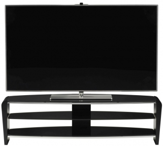 Alphason Francium Black TV Unit - FRN1400-3BLK-BK