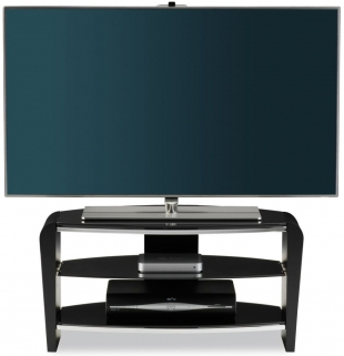 Alphason Francium Black TV Unit - FRN800-3BLK-BK