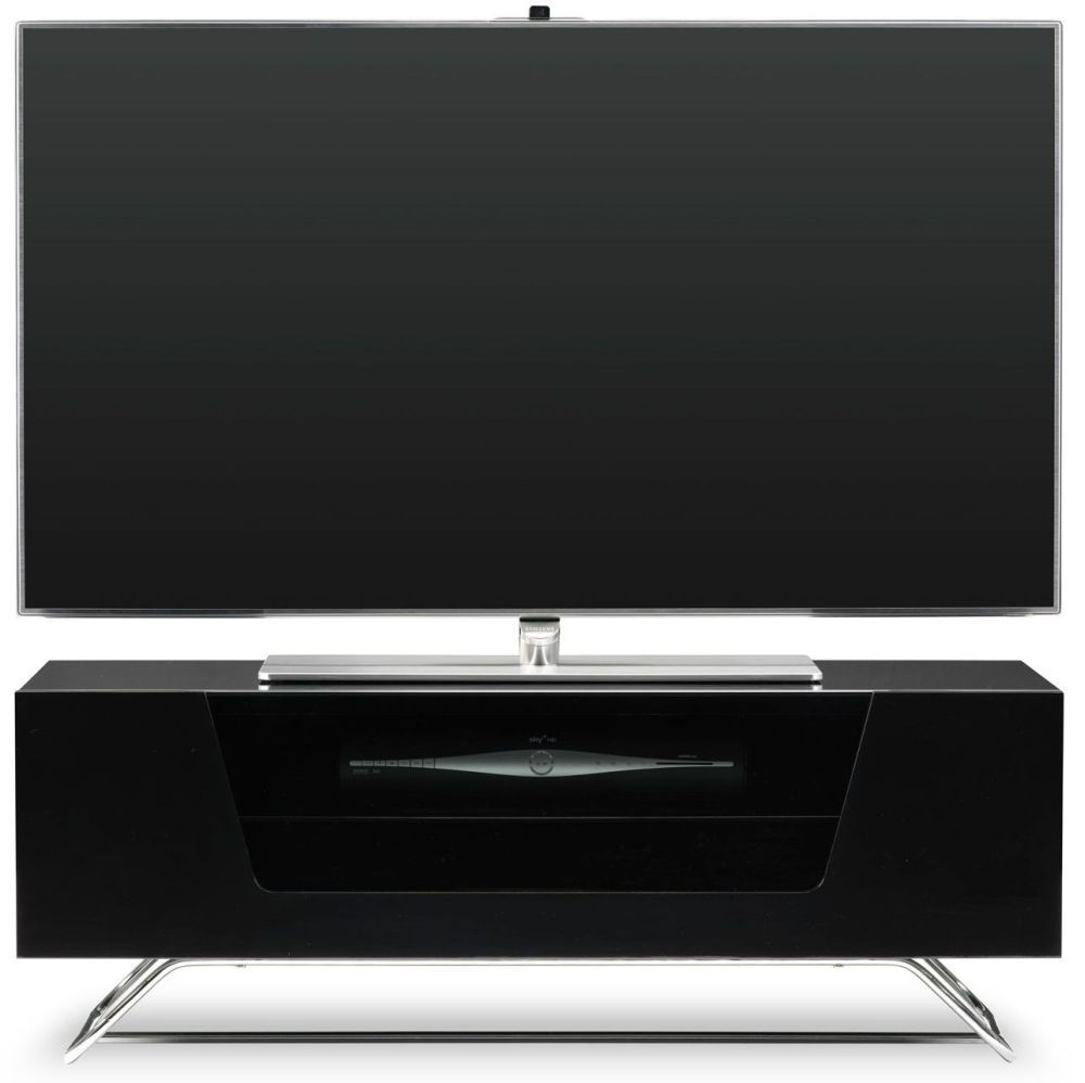Alphason Chromium 2 Black TV Cabinet for 45inch - CRO2-1000CB-BLK
