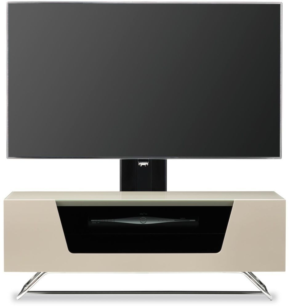 Alphason Chromium 2 Ivory Cantilever TV Cabinet for 50inch - CRO2-1000BKT-IV