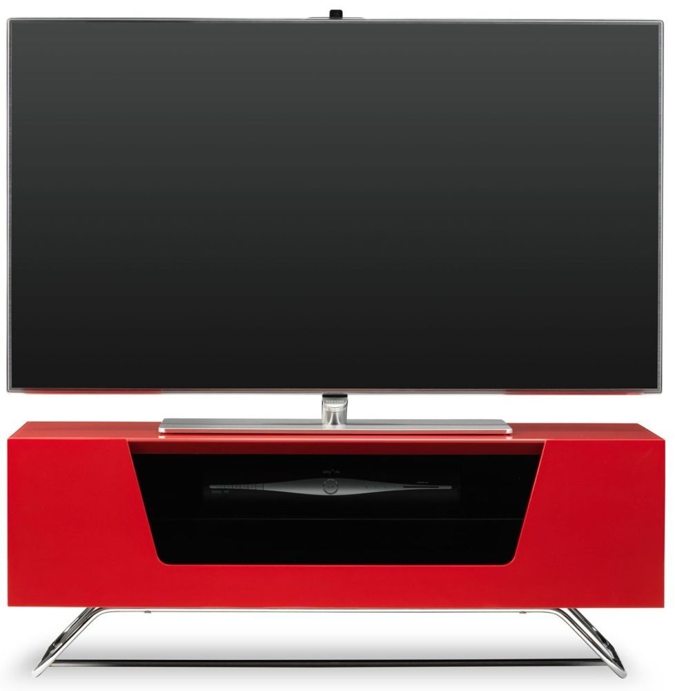Alphason Chromium 2 Red TV Cabinet for 50inch - CRO2-1000CB-RED
