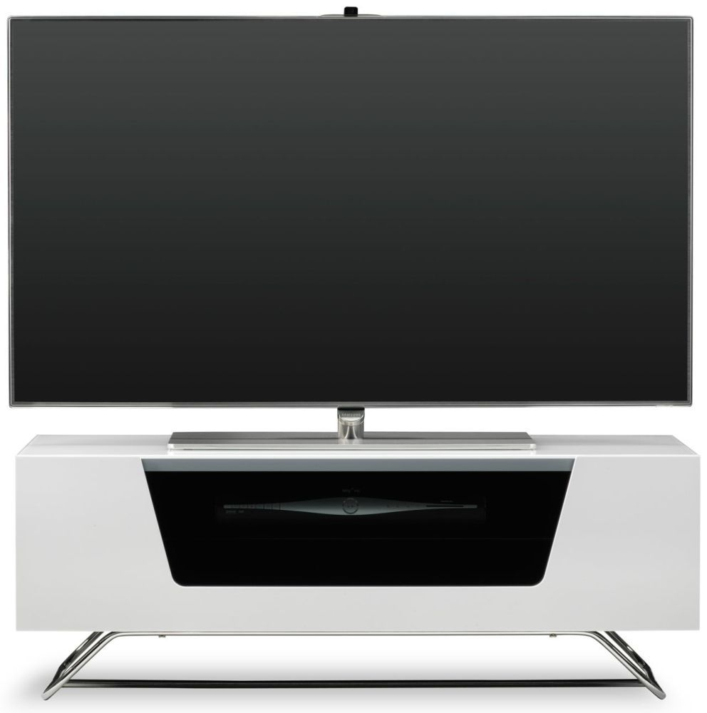 Alphason Chromium 2 White TV Cabinet for 45inch - CRO2-1000CB-WHT