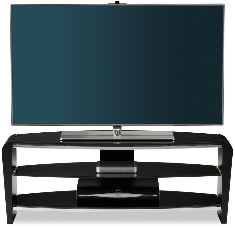 Alphason Francium Black TV Unit for 50inch - FRN1100-3BLK-BK