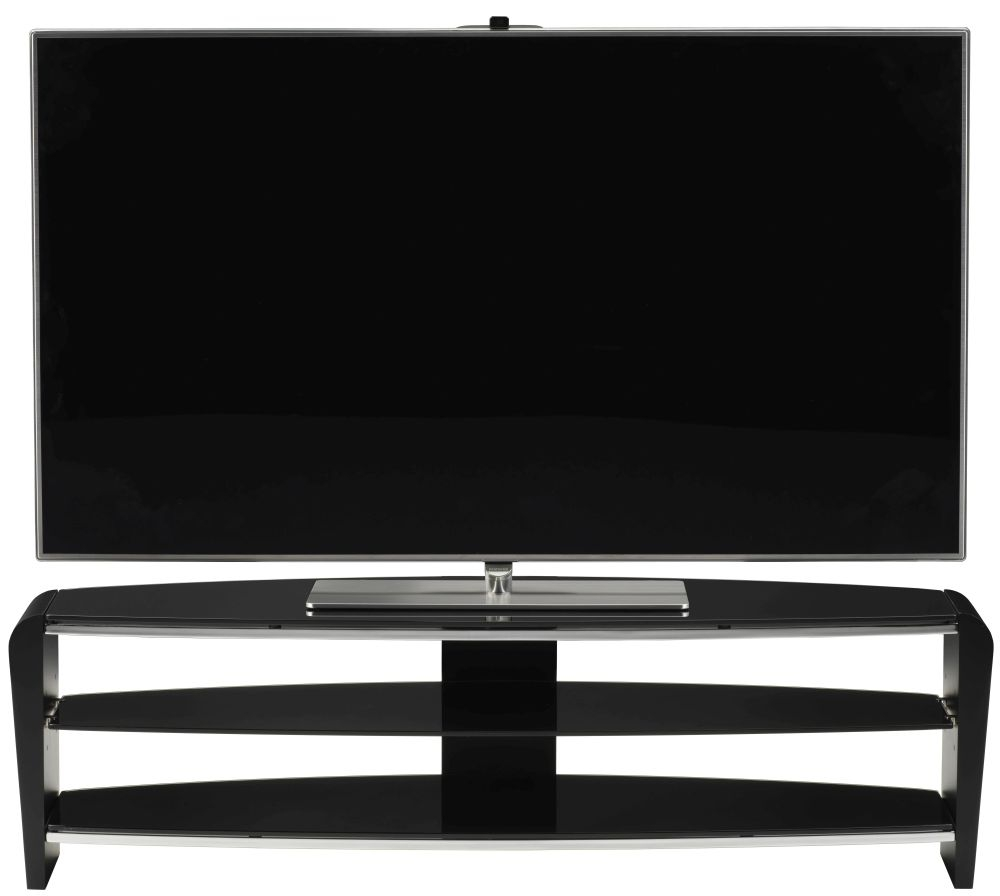 Alphason Francium Black TV Unit for 58inch - FRN1400-3BLK-BK