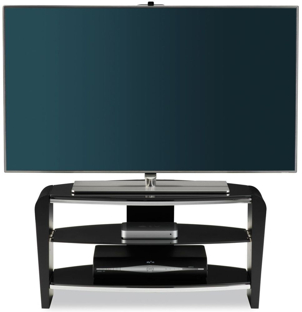 Alphason Francium Black TV Unit for 36inch - FRN800-3BLK-BK