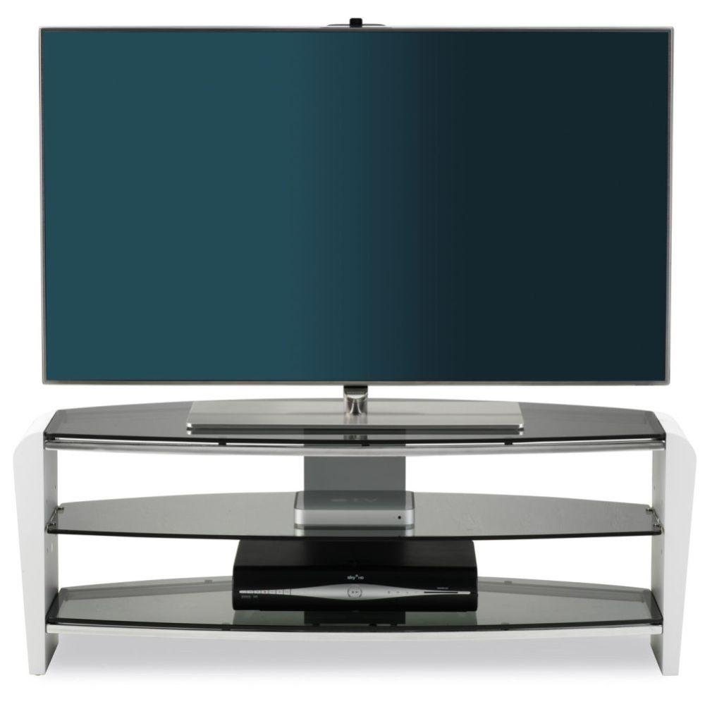 Alphason Francium White TV Unit - FRN1100-3WHT-SK