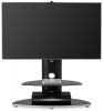 Alphason Osmium TV Stand for 32inch - Black and Chrome OSMB800/2-S