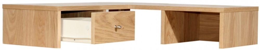 Alphason Oak Corner Desktop Hutch