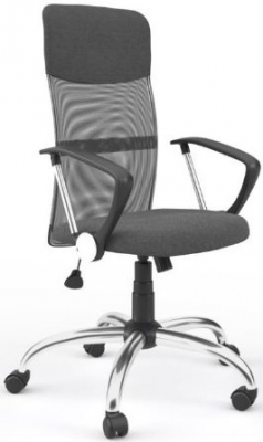 Alphason Orlando Grey Mesh Fabric Office Chair-AOC4087GRY