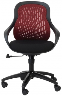 Alphason Croft Red Mesh Office Chair - AOC1010-M-R