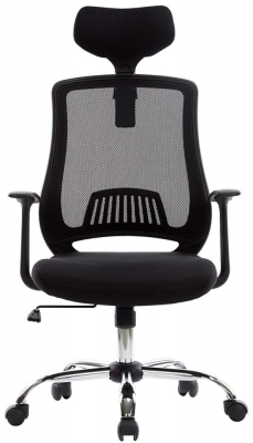 Alphason Florida Black Mesh Fabric Office Chair - AOC4125BLK