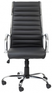 Alphason Hartford Black Faux Leather Office Chair - AOC3208-PU-BK