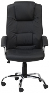 Alphason Houston Black Leather Faced Office Chair - AOC4201A-L-BK