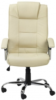 Alphason Houston Cream Leather Faced Office Chair - AOC4201A-L-CM