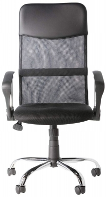 Alphason Orlando Black Mesh Fabric Office Chair - AOC4087BLK
