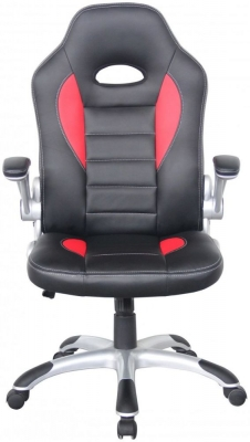 Alphason Talladega Faux Leather Office Chair - Black and Red AOC8211R