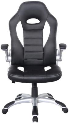 Alphason Talladega Black and White Faux Leather Office Chair AOC8211WHI