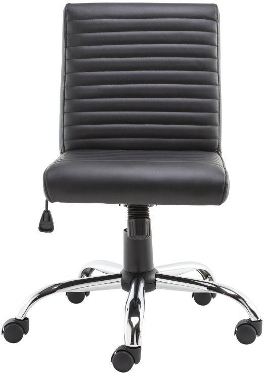 Alphason Lane Black Faux Leather Office Chair - AOC21086BLK