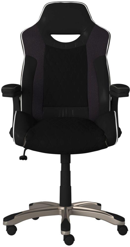 Alphason Silverstone Black Faux Leather Office Chair - AOC2282BLK