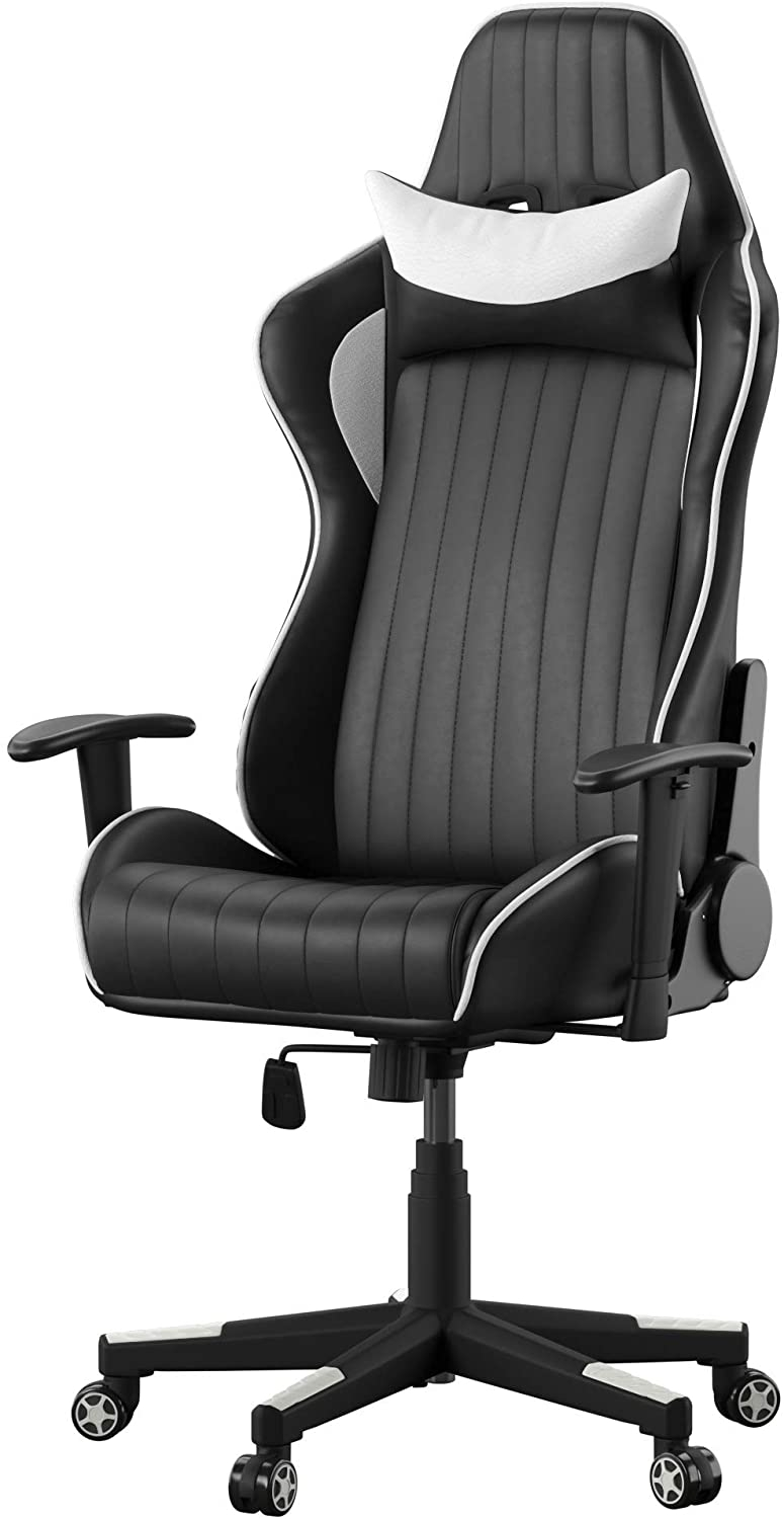 Alphason Senna Black and White Faux Leather Office Chair - AOC5126WHI