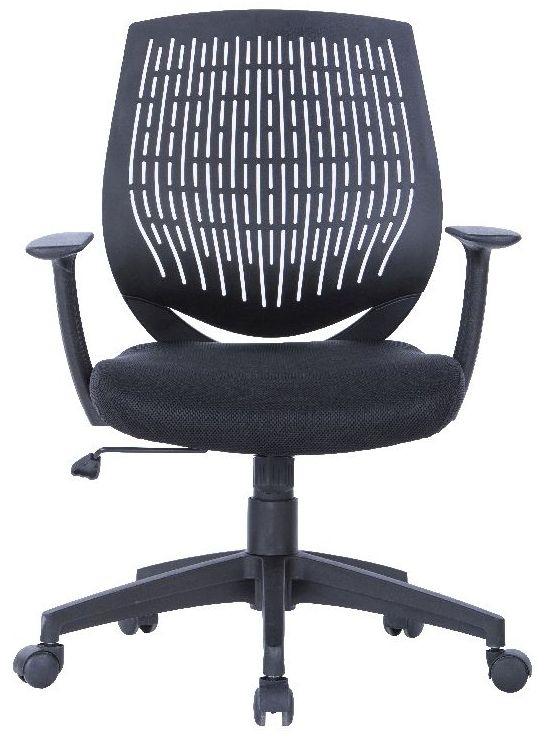 Alphason Malibu Black Fabric Office Chair - AOC5460BLK