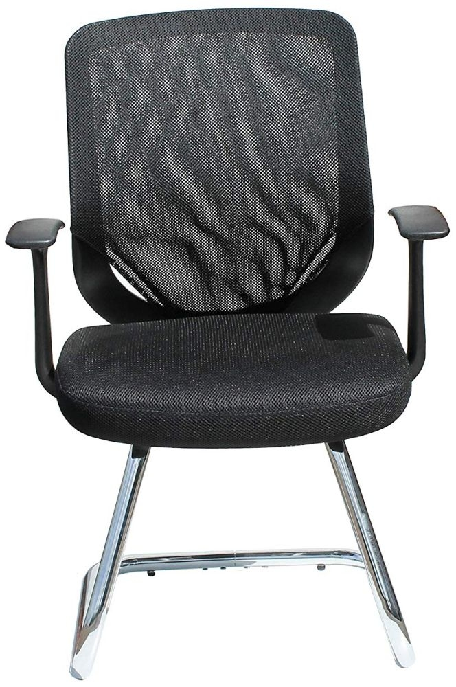 Alphason Atlanta Black Mesh Fabric Office Chair - AOC9201-V-BLK thumbnail